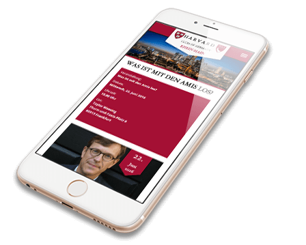 Harvard Mobile Webdesign