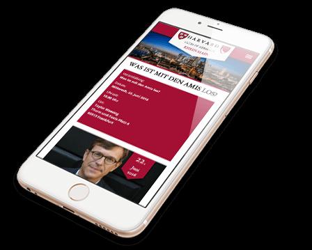 Harvard Mobile Webdesign