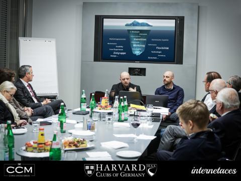 Präsentation Harvard Website in Frankfurt